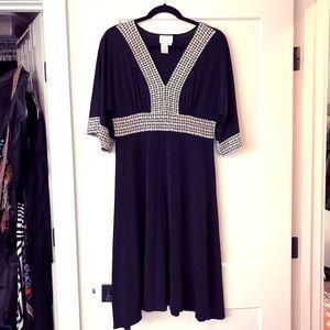 Donna Morgan Kimono Sleeve Knit Dress 14 - Worn 1x